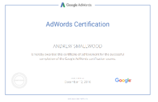 Google Adwords Certification Smallwood Consulting