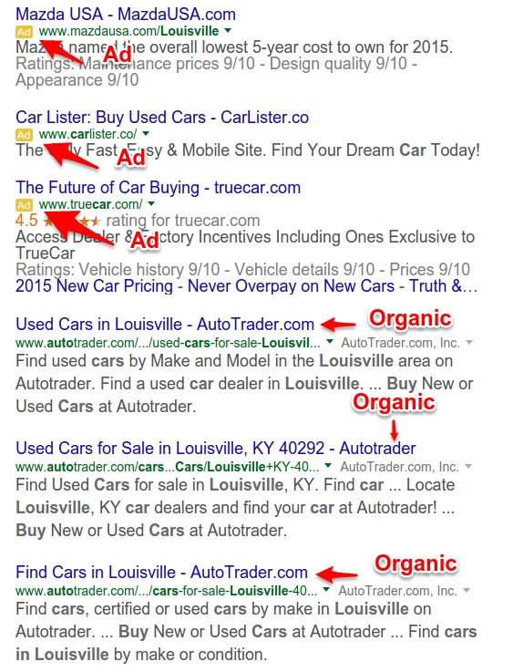 Google SERP Screenshot