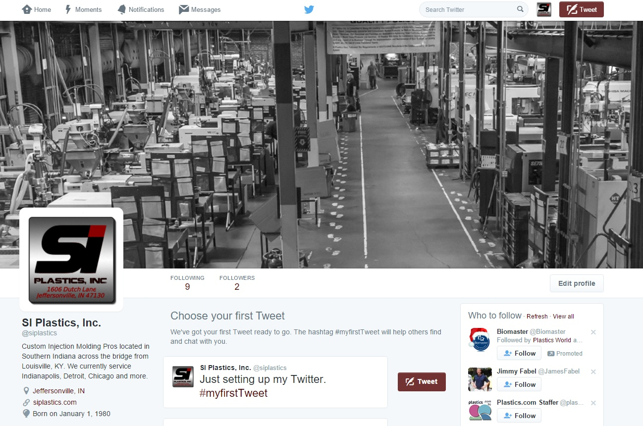 Manufacturing Social Media Twitter Profile